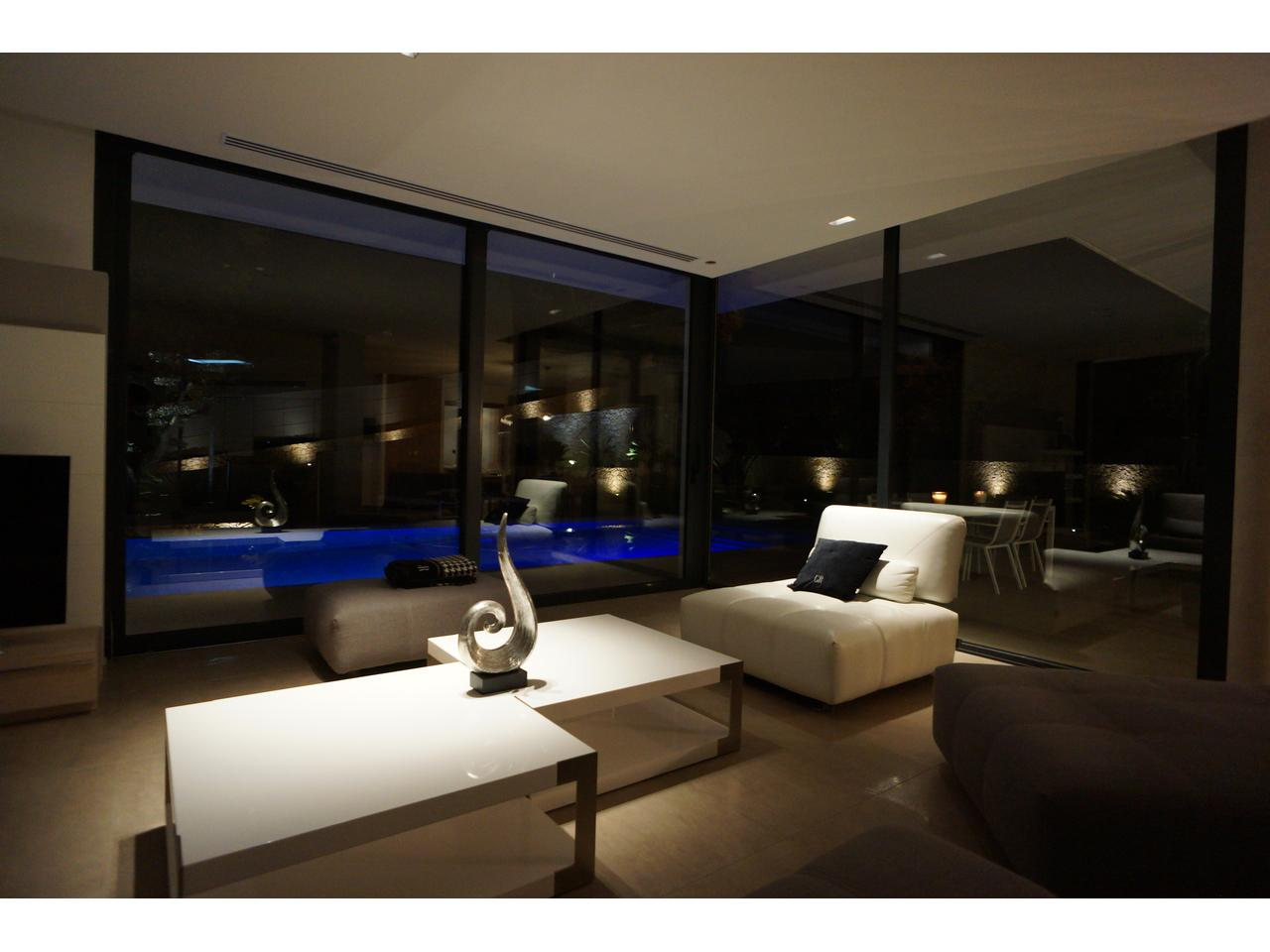 Living area at night